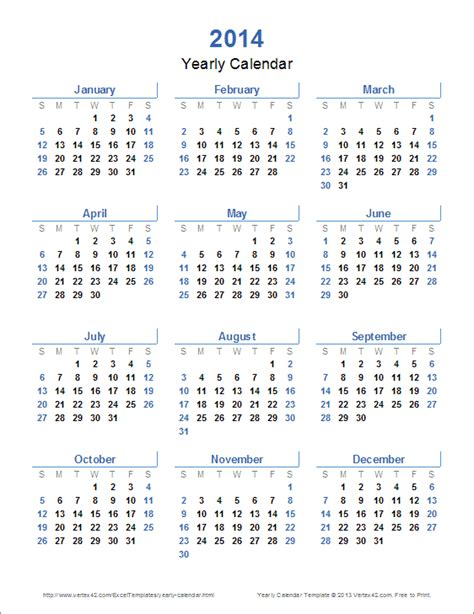2014 year calendar template 2014 printable yearly canadian calendar autos weblog