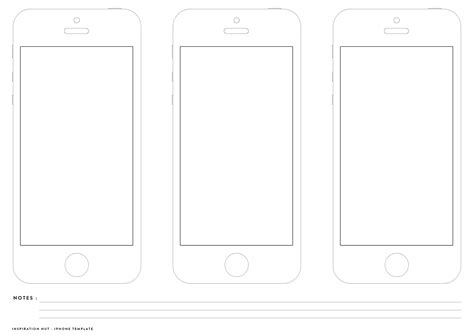 iphone wireframe template printable iphone wireframe for app and web designers