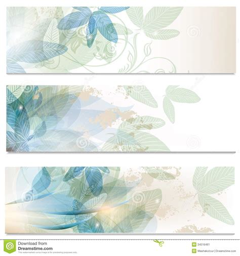 abstract brochures set in floral style stock image image