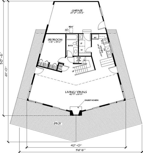 pentagon shaped house plans vacation house plans home design ls h 8552