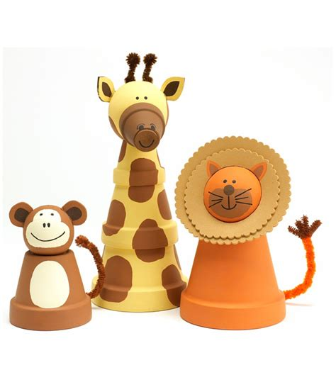 Home Decor Online Catalogs by Craft Painting Clay Pot Animals
