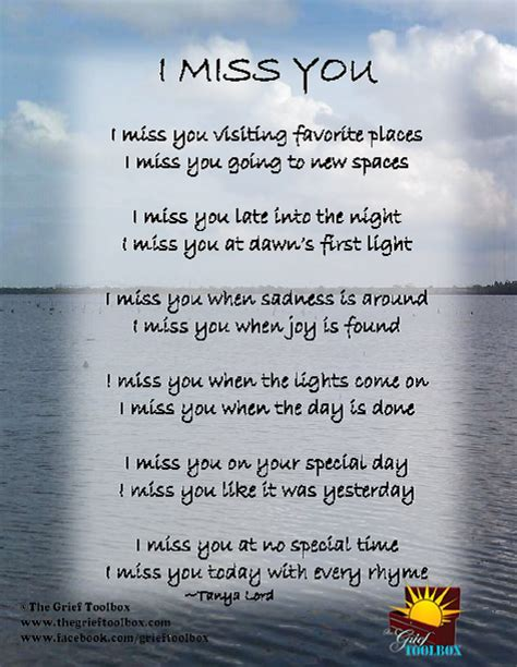 Parent Letter N1 I Miss You A Poem The Grief Toolbox