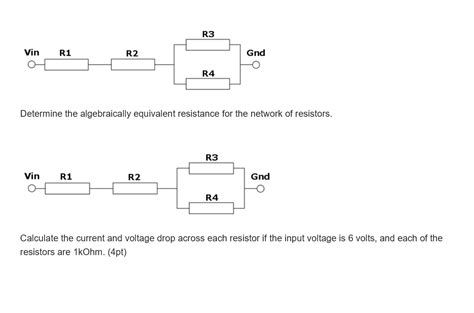 resistor network calculator determine the algebraically equivalent resistance chegg