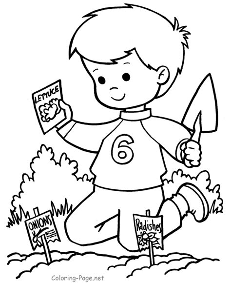 planting seeds coloring sheets coloring pages