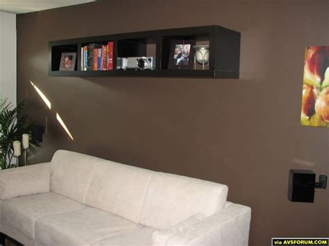 simple shelving unit    video projector