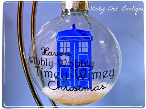 doctor who thing a wibbly wobbly timey wimey christmas