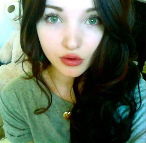 She Eye No 2 dove cameron dark hair isolation beautiful brown hair and