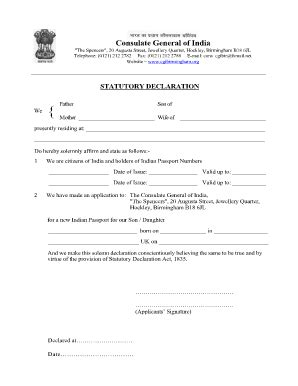 statutory declaration template name change fillable statutory declaration from both parents
