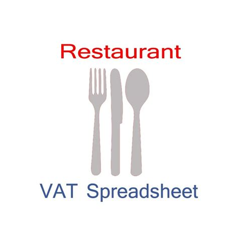 restaurant bookkeeping templates restaurant accounting vat spreadsheet templates