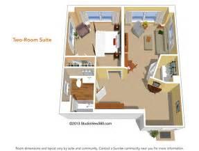 floor plans suites amp studios sunrise senior living