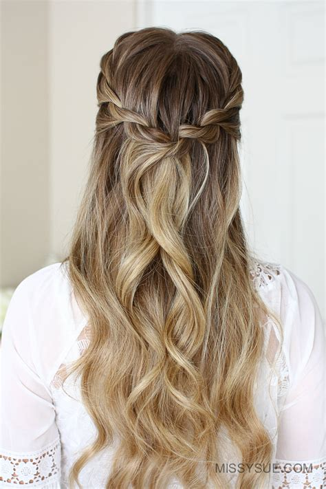 hairstyles half braids 3 easy rope braid hairstyles fsetyt com