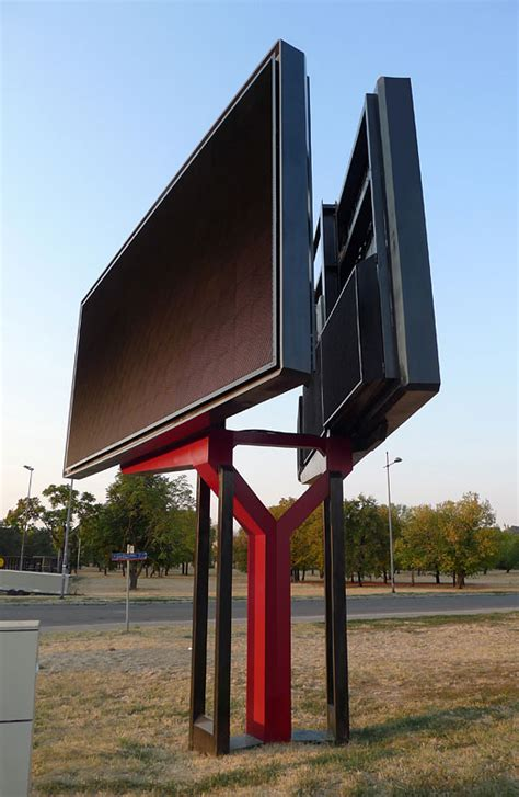 shaped double sided led digital billboard xm panel