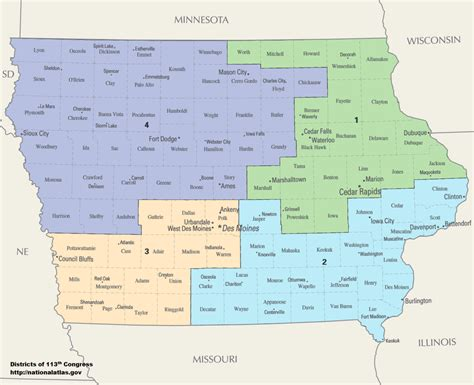 congressional districts map iowa s congressional districts