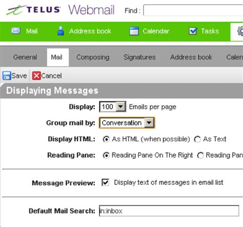 Tagged Email Search Telus Webmail Help Manage Your Email