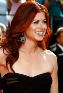 should in their late 40scolor their hair auburn red hair trendy long wavy hairstyle for women debra