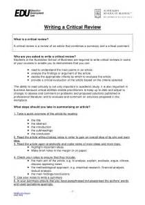 How To Write A Review Essay by How To Write A Critical Review