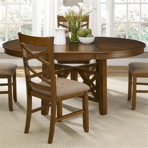 Liberty Dining Room Furniture Liberty Furniture Bistro To Oval Single Pedestal Dining Table With 18 Inch Butterfly Leaf