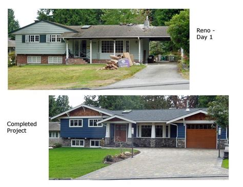 split level exterior before after search curb