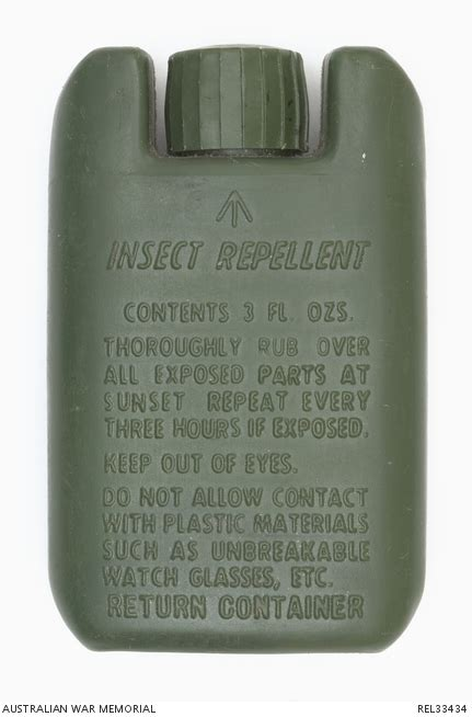 army issue insect repellent the australian war memorial