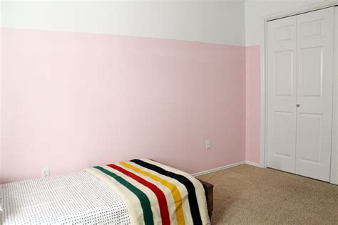 How To Level A House by 3 4 Painted Pink Walls In Greta S Room Chris Loves Julia