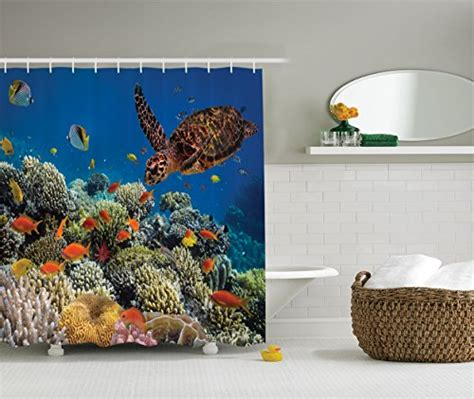 turtle shower curtains bath accessory sets sea bathroom accessories and decor color style