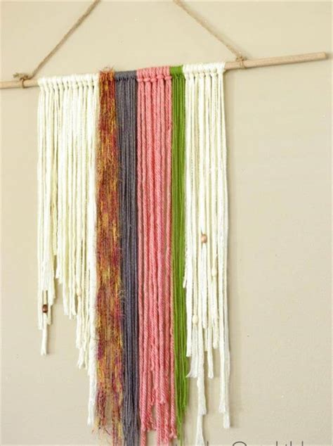 Wall Hanging Tutorial - best 54 ideas about diy yarn wall diy to make