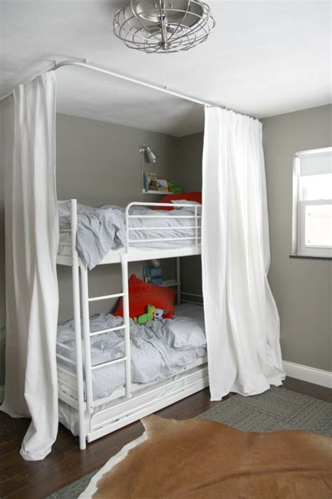 bunk bed drapes diy bunk bed curtains native home garden design