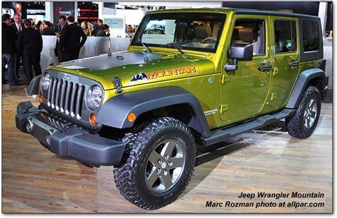 Jeep Wrangler Mountain Edition Specs 2007 2010 Jeep Wrangler An Icon Revisited