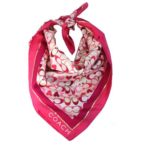 couch scarf snap n zip fashion accessories coach signature heart scarf