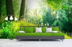 in green woods wall murals and photo wallpapers forest peel and stick photo wall mural decor wallpapers forest