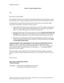 How To Write A Cover Letter Guardian by Temporary Guardianship Letter Sle Bagnas Sle