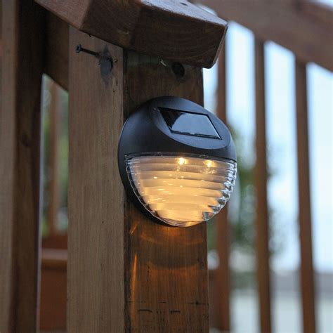 Fence Mounted Solar Lights Lights Solar Solar Wall Brown Solar Fence Lights
