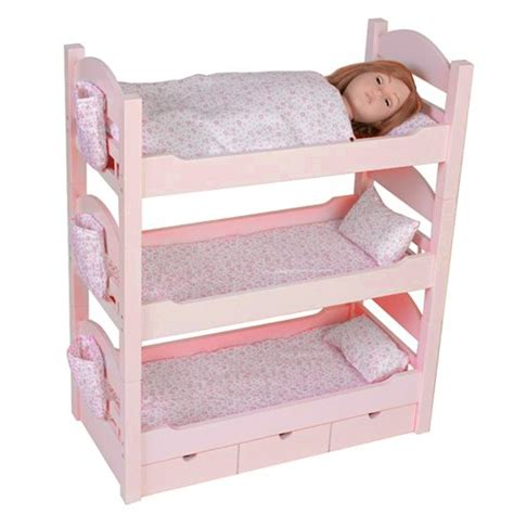 18 doll bunk bed triple bunk beds trundle sleeps 4 18 quot dolls our generation