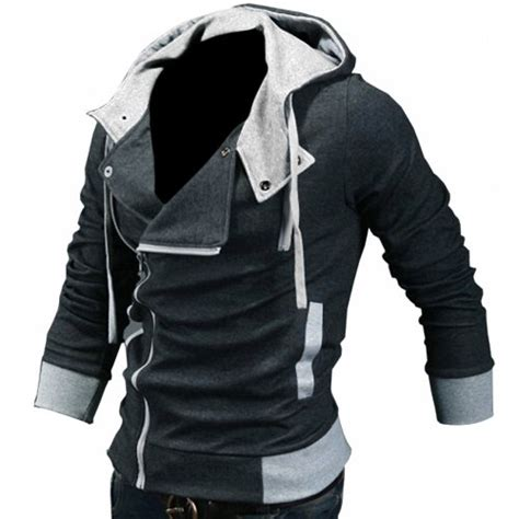 Jaket Hoodie Zipper White High Quality 7 Roffico Cloth djt s oblique zipper hoodie casual top coat slim fit