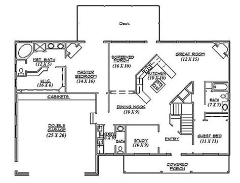 Ranch Traditional House Plans Home Design R2042 8105 House Plans Below 1300 Square