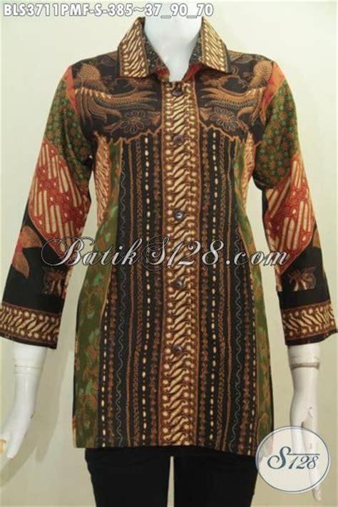 Tunik Kombinasi 70 Baju Batik Elegan Motif Klasik Model Blus Untuk Wanita