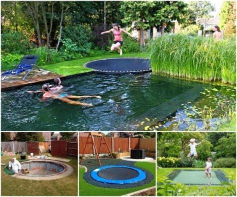 underground spring in backyard best 25 sunken troline ideas on pinterest troline