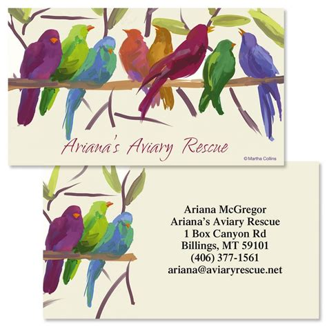 Flocked Business Cards flocked together sided business cards colorful images