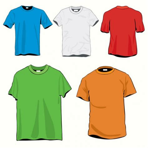 clothes design vector cartoon t shirt template vector download free vector