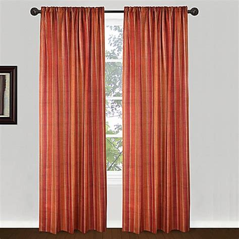 orange red curtains park b smith 84 inch banyon window curtain panel in red