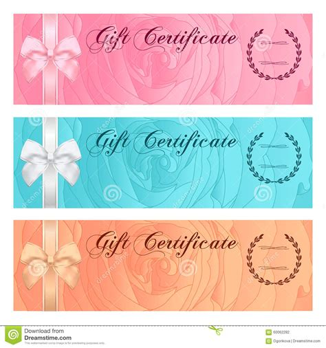 gift certificate voucher coupon reward or gift card