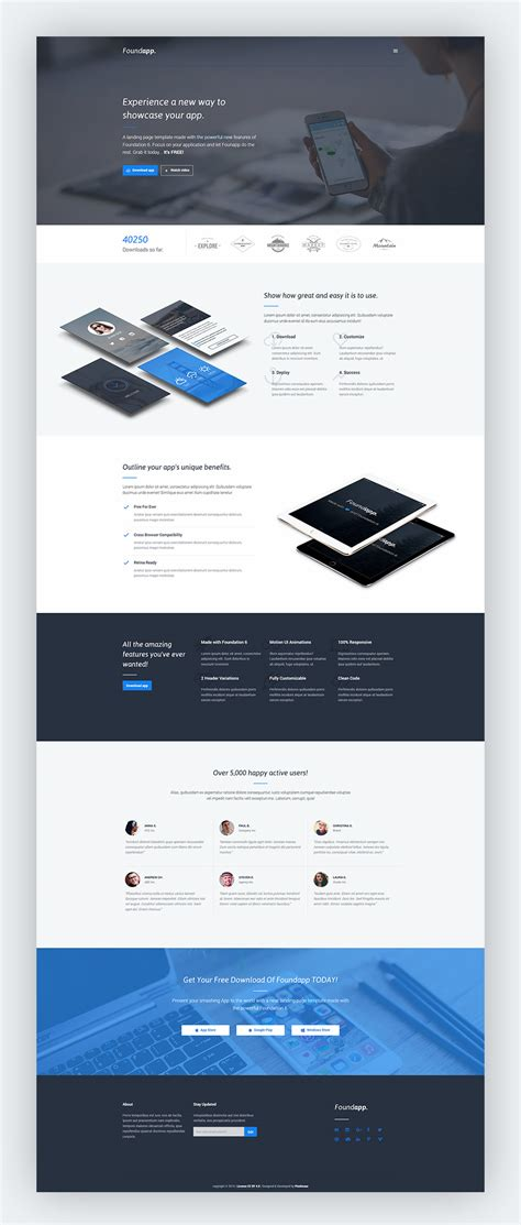 format html for mobile free mobile app landing page graphicsfuel