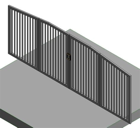 gate  sheets  rfa cad   mb bibliocad