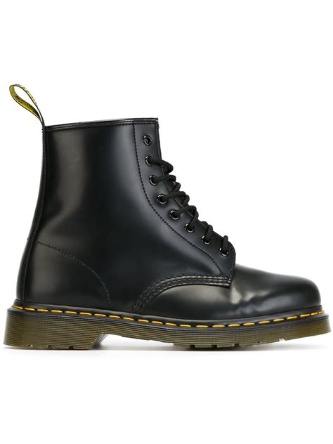 black boots for dr martens 1460 boots in black for lyst