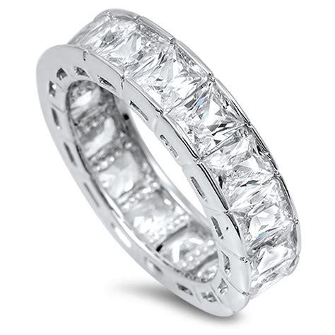 eternity ring new 925 sterling silver princess band ebay