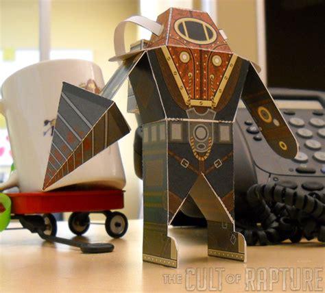 Bioshock Papercraft - the cult of rapture bioshock 2 paper foldables