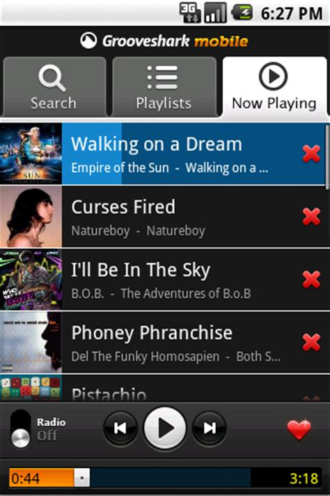 grooveshark mobile app grooveshark mobile app hits android