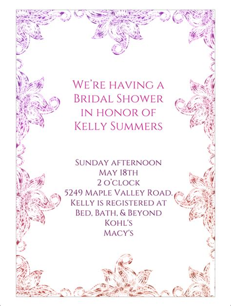 free printable bridal shower invitations templates 22 free bridal shower printable invitations