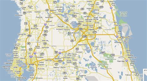 central florida map map of central florida cities maps of central florida