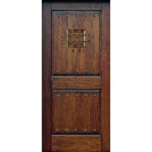 door rustic mahogany type 2 panel prefinished
